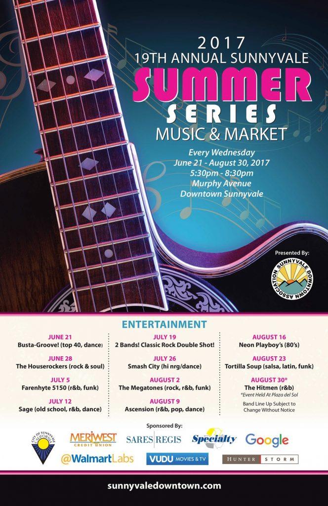 19th Annual Sunnyvale Summer Series - Music & Market