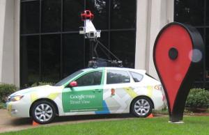 Google Street View Car Subaru Impreza at Google Campus