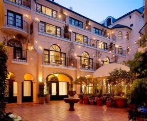 Garden Court Hotel Palo Alto Courtyard