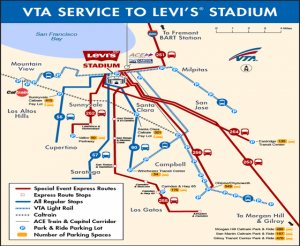 Vta Map to Levis