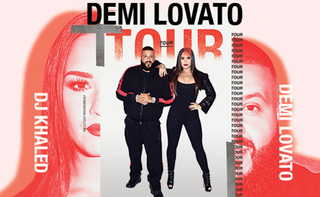 Demi Lovato & DJ Khaled at SAP Center